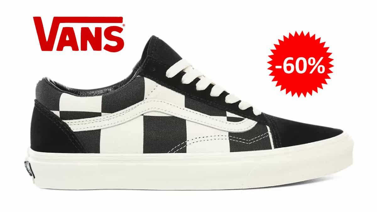 Zapatillas Vans Checkerboard Old Skool baratas, calzado de marca barato, ofertas en zapatillas chollo1