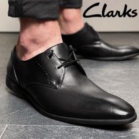 ¡¡Chollo!! Zapatos de piel para hombre Clarks Bampton Lace sólo 29.99 euros. 63% de descuento.