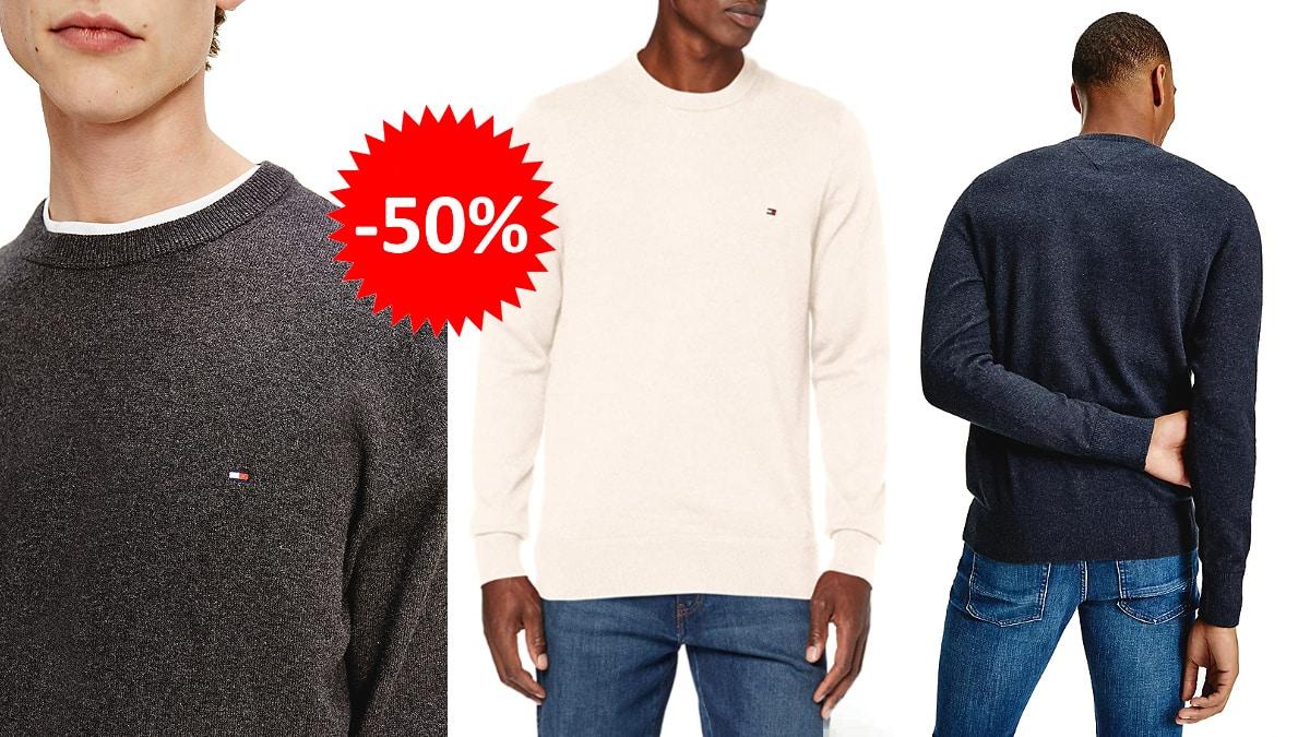 Jersey Tommy Hilfiger Pima barato, ropa de marca barata, ofertas en jerseis chollo