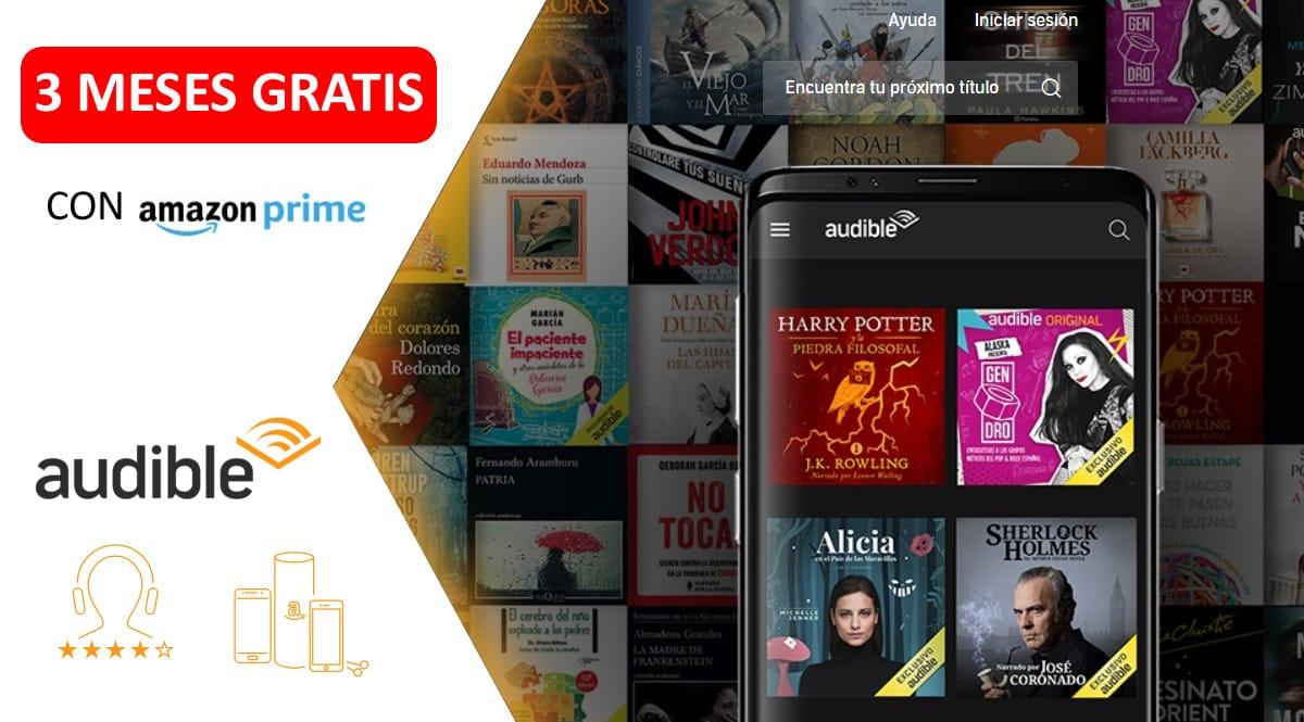 3 meses gratis de Audible con Amazon Prime, chollo