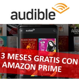 3 meses gratis de Audible con Amazon Prime