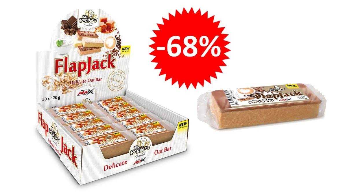 ¡Precio mínimo histórico! 30 barritas energéticas Amix Flapjack sabor capuchino sólo 17.09 euros. 68% de descuento.