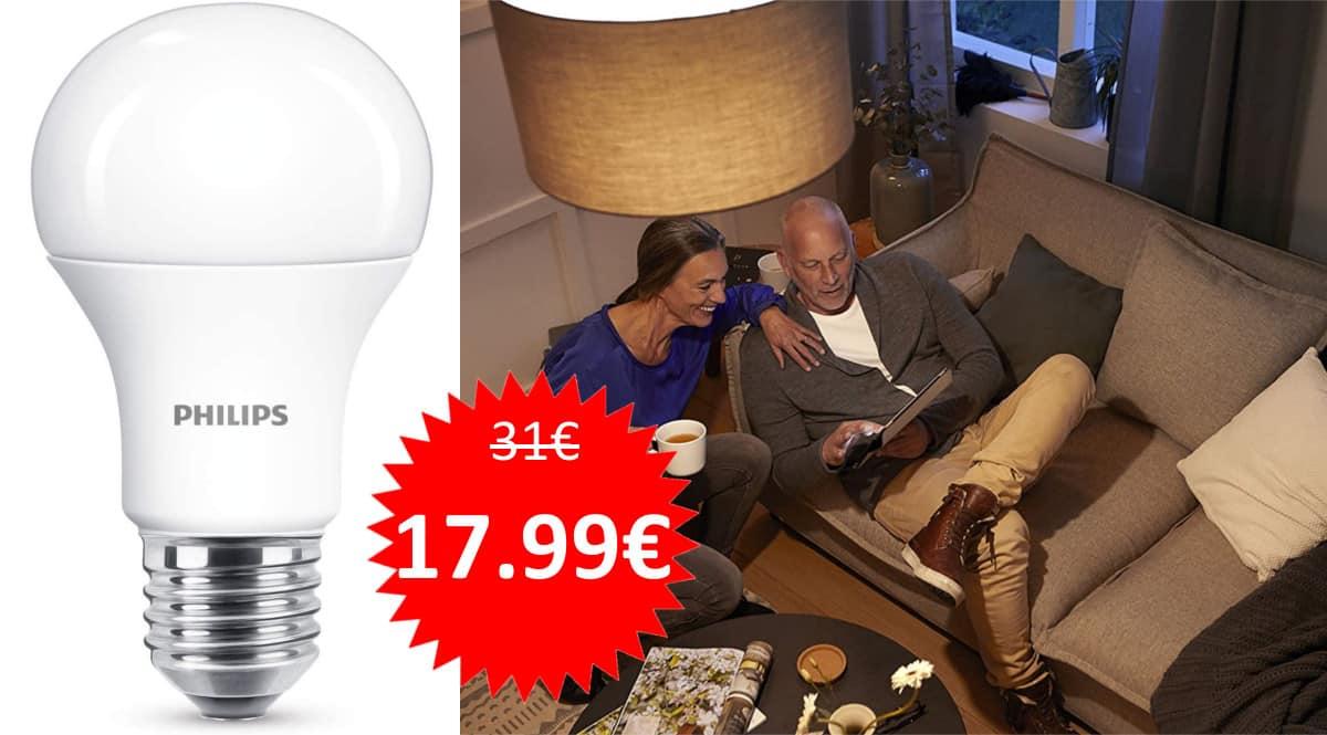 6 bombillas Philips LED 11W baratas. Ofertas en bombillas, bombillas baratas, chollo