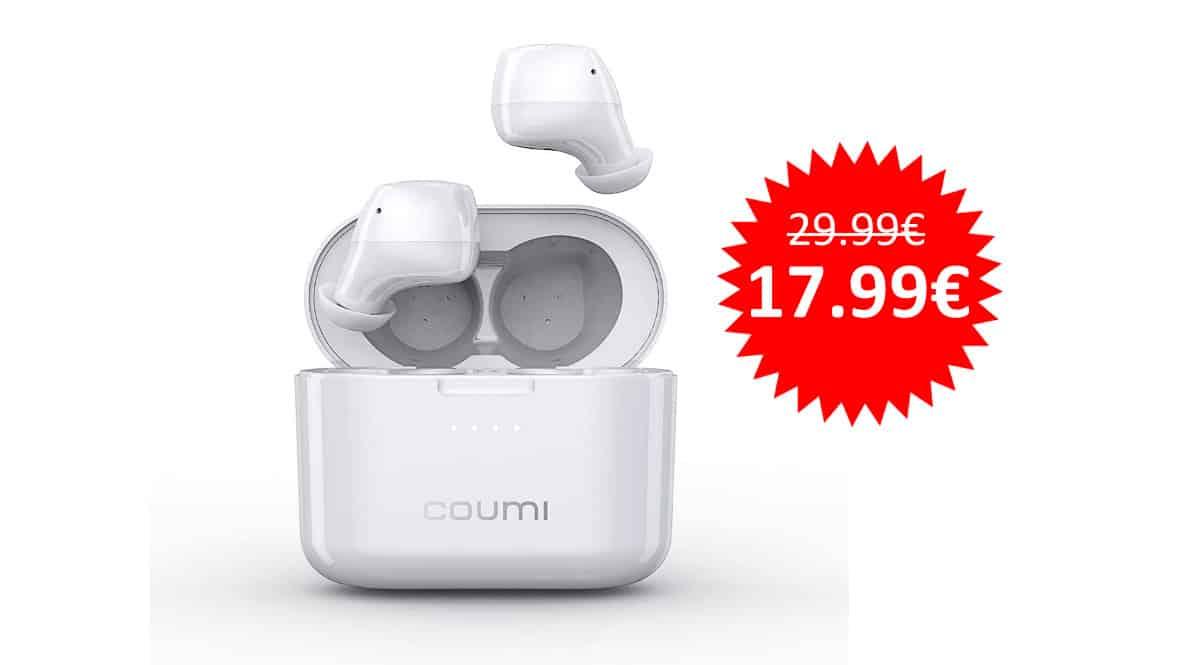 ¡Código descuento! Auriculares Bluetooth Coumi sólo 17.99 euros.