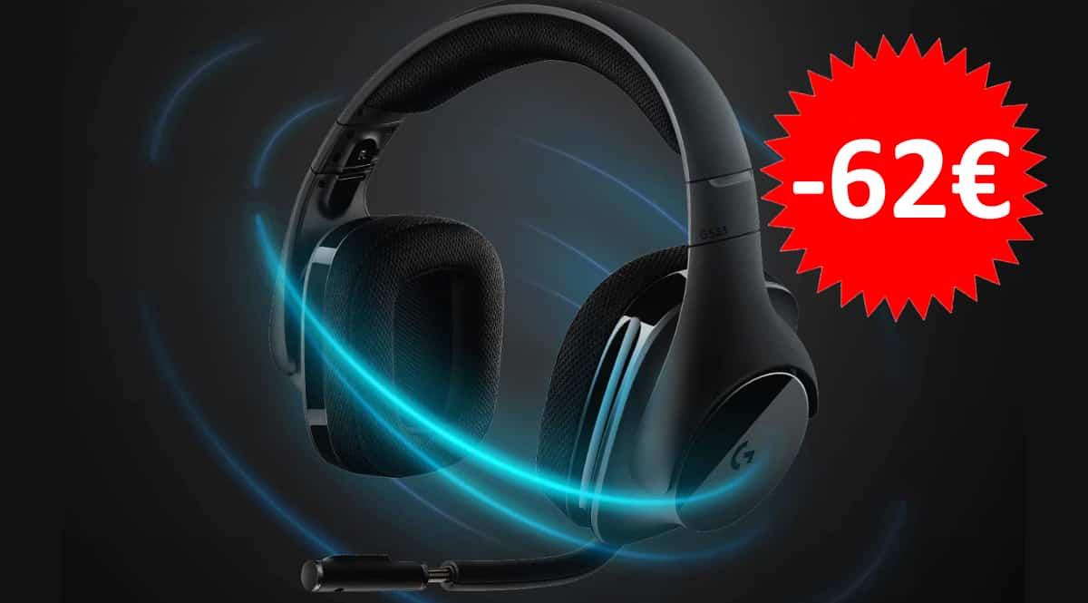 Auriculares Logitech G533 baratos. Ofertas en auriculares, auriculares baratos,chollo