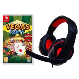 ¡¡Chollo!! Auriculares gaming Nuwa para Nintendo Switch + juego Vegas Party sólo 21.89 euros.