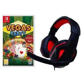 ¡¡Chollo!! Auriculares gaming Nuwa para Nintendo Switch + juego Vegas Party sólo 21.89 euros.