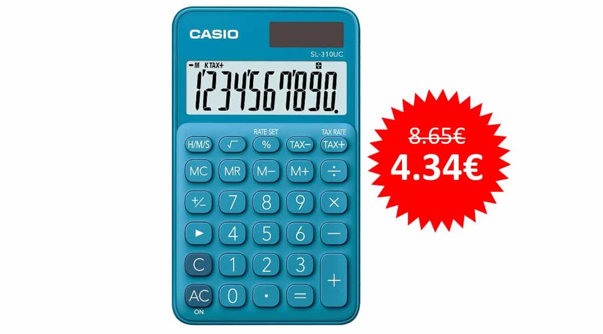 ¡Precio mínimo histórico! Calculadora Casio SL-310UC-BU sólo 4.34 euros. Mitad de precio.