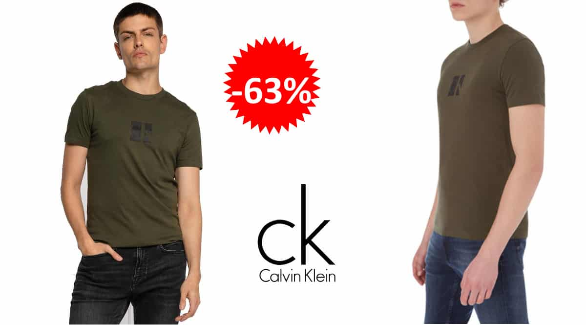 Camiseta Calvin Klein Small Center barata, camisetas de marca baratas, ofertas en ropa, chollo