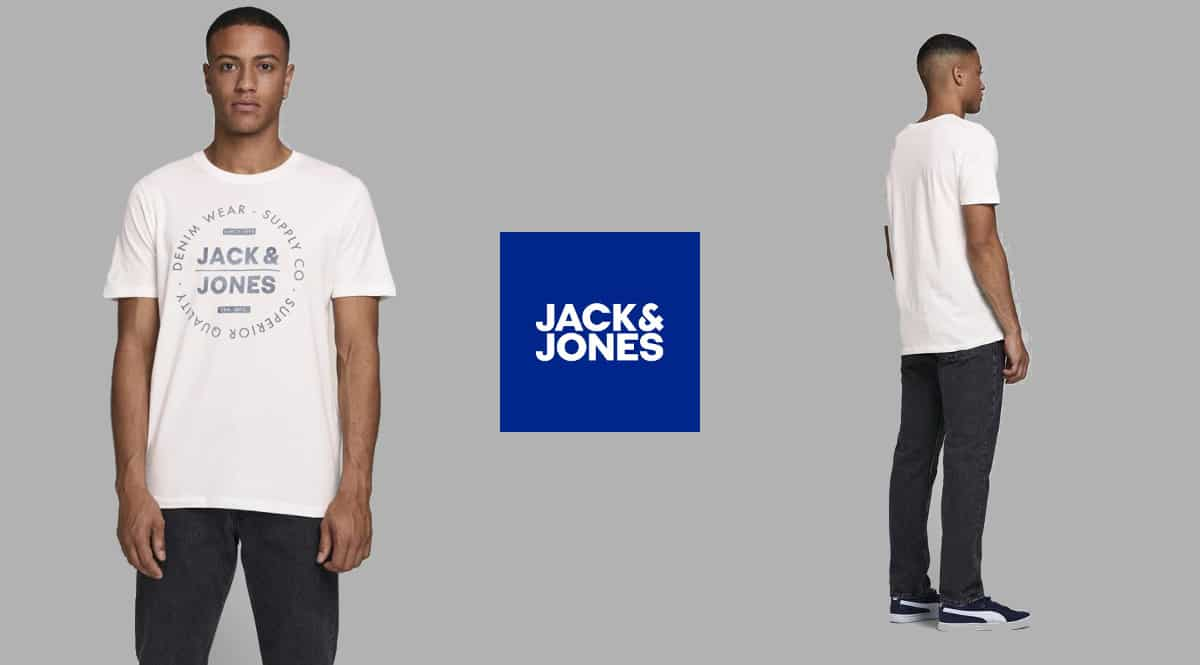 Camiseta Jack & Jones Logo barata, camisetas de marca baratas, ofertas en ropa, chollo