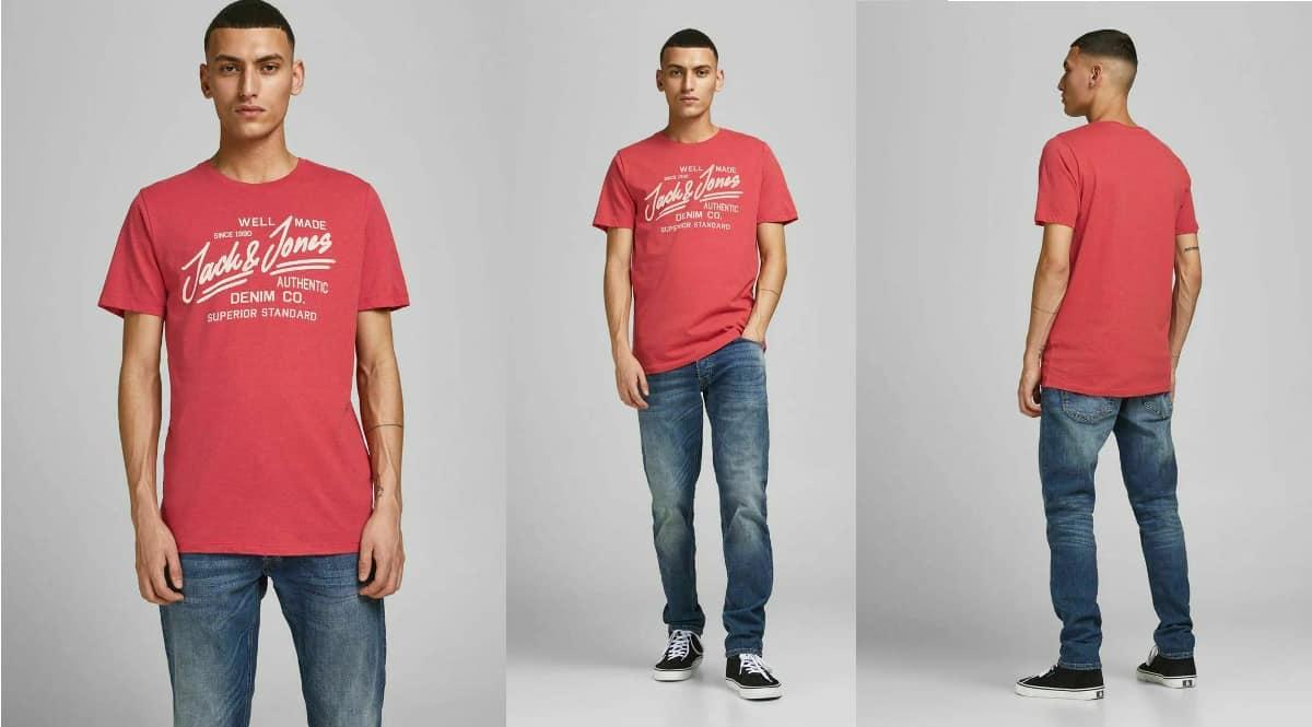 Camiseta Jack & Jones Logo barata, camisetas de marca baratas, ofertas en ropa de marca, chollo