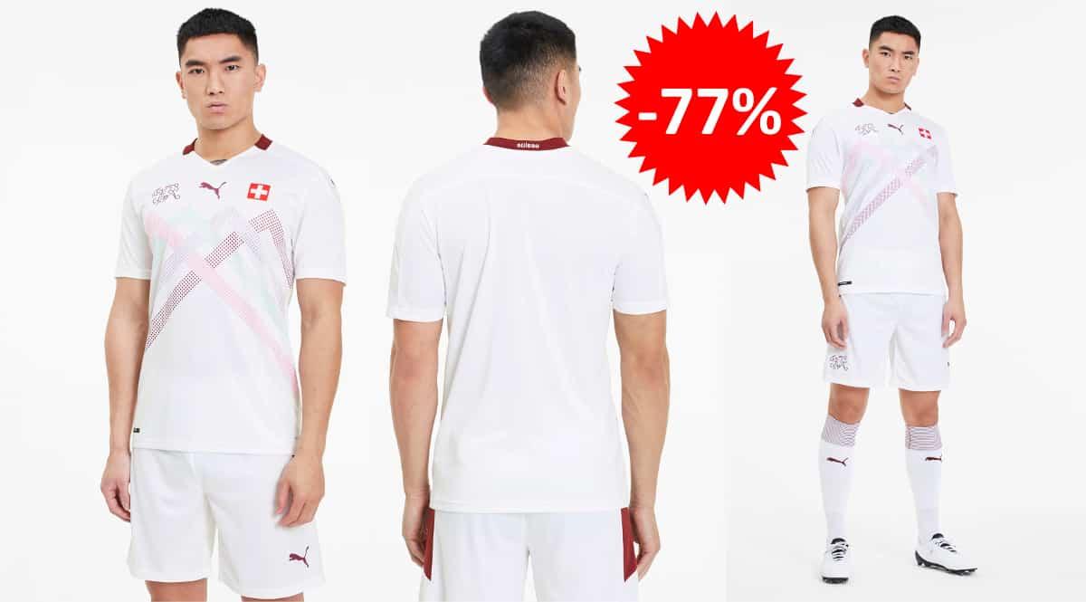 Camiseta Puma de la selección Suiza barata, ropa de marca barata, ofertas en camisetas chollo