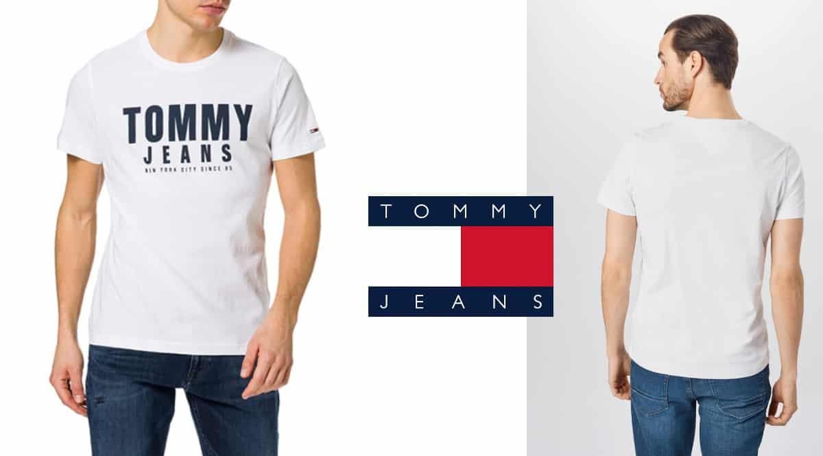 Camiseta Tommy Jeans Center Chest barata, camisetas de marca baratas, ofertas en ropa para hombre, chollo