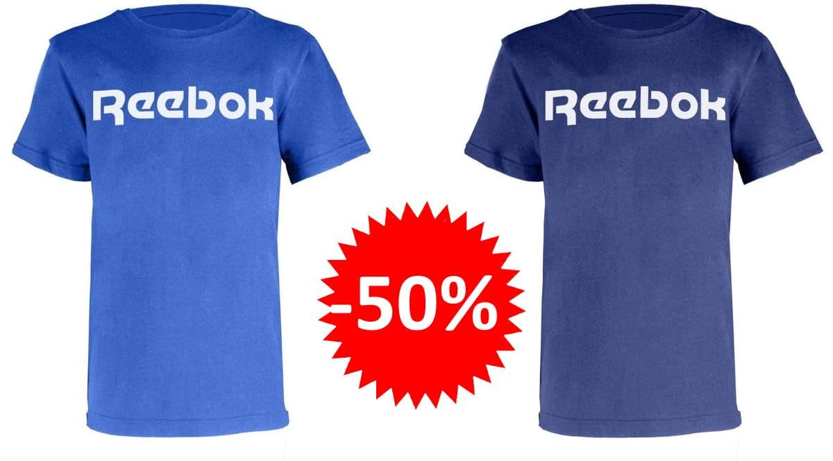 Camiseta para niño Reebok Big logo barata, camisetas de marca baratas, ofertas en ropa para niño, chollo