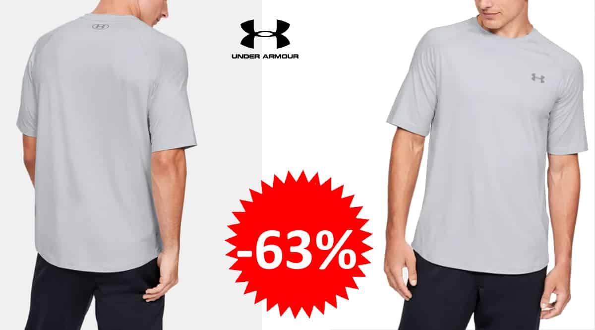 Camiseta técnica under Armour Recover barata, camsietas de marca baratas, ofertas ropa deporte, chollo
