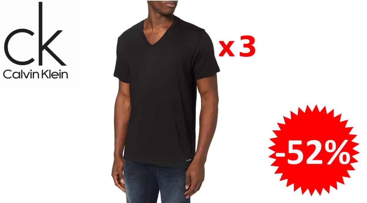 Camisetas básicas Calvin klein baratas, camisetas de marca baratas, ofertas en ropa, chollo