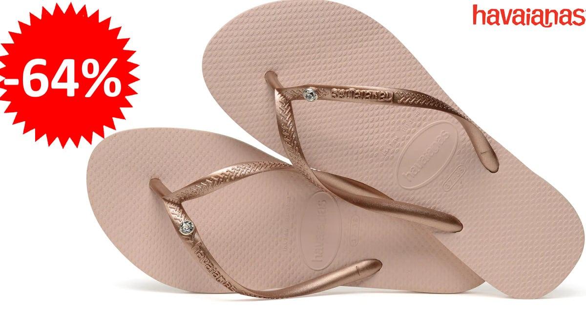 Chanclas Havaianas Slim Crystal Glamour baratas, chanclas de marca baratas, ofertas en calzado, chollo