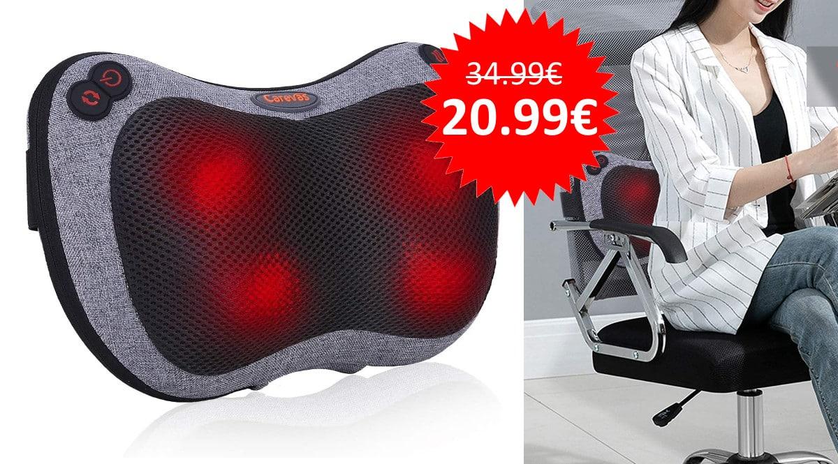 ¡Código descuento! Cojín de masaje shiatsu Carevas sólo 20.99 euros.