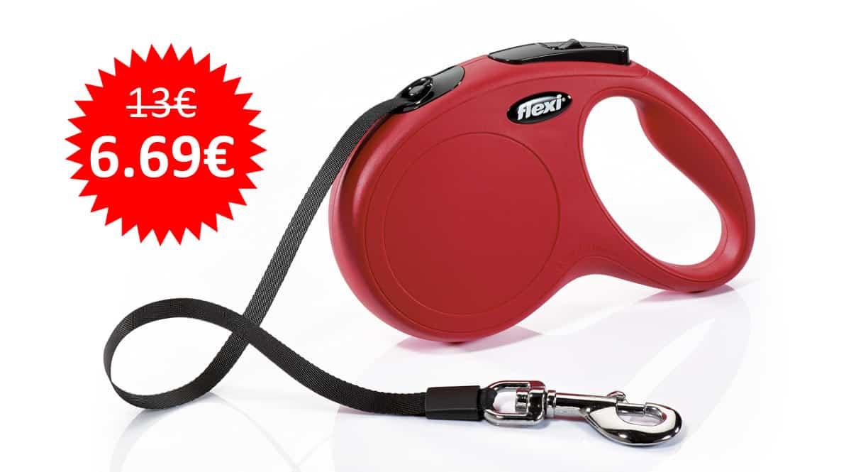 ¡¡Chollo!! Correa extensible para perros Flexi New Classic S (5m) sólo 6.69 euros. Mitad de precio.