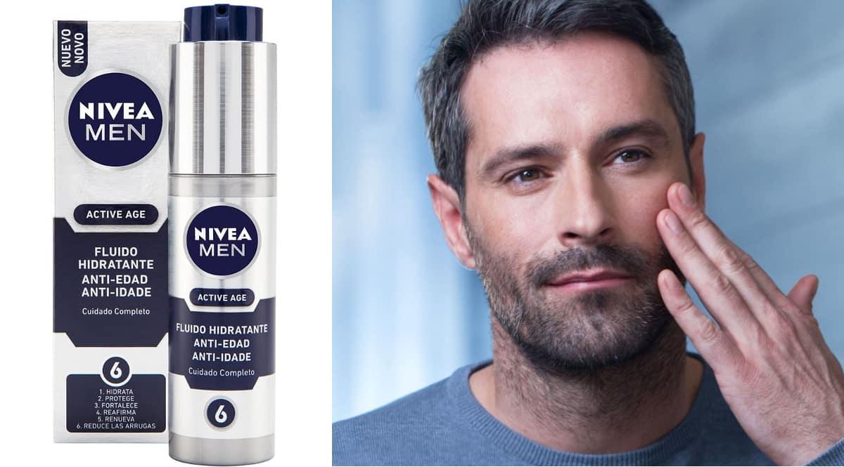Crema hidratante anti edad Nivea Men Active Age barata, cremas para hombre de marca baratas, ofertas belleza, chollo