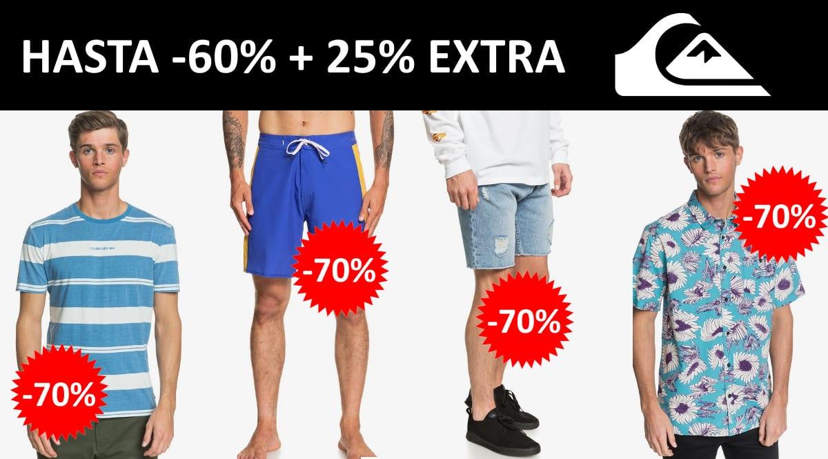 Descuento EXTRA rebajas de Quiksilver, ropa de marca barata, ofertas en calzado chollo