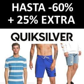 Descuento EXTRA rebajas de Quiksilver, ropa de marca barata, ofertas en calzado