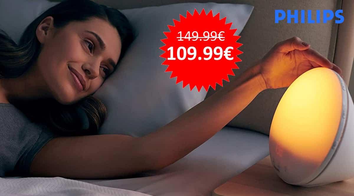 ¡Chollo Día del Padre! Despertador de luz Philips Wake Up HF3531/01 sólo 109 euros.