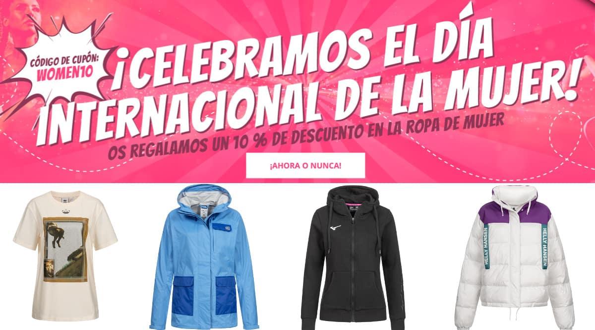 Día de la Mujer en Deporte Outlet, ropa de marca barata, ofertas en ropa de marca chollo