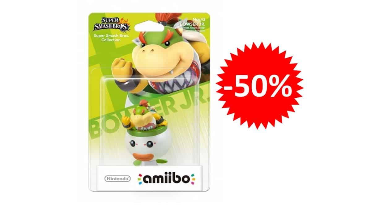 ¡¡Chollo!! Figura Nintendo Amiibo Bowser Jr. sólo 8.97 euros. 50% de descuento.