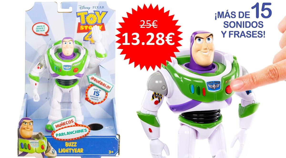 ¡Precio mínimo histórico! Figura con voces y sonidos Disney Toy Story 4 Buzz Lightyear sólo 13.28 euros.