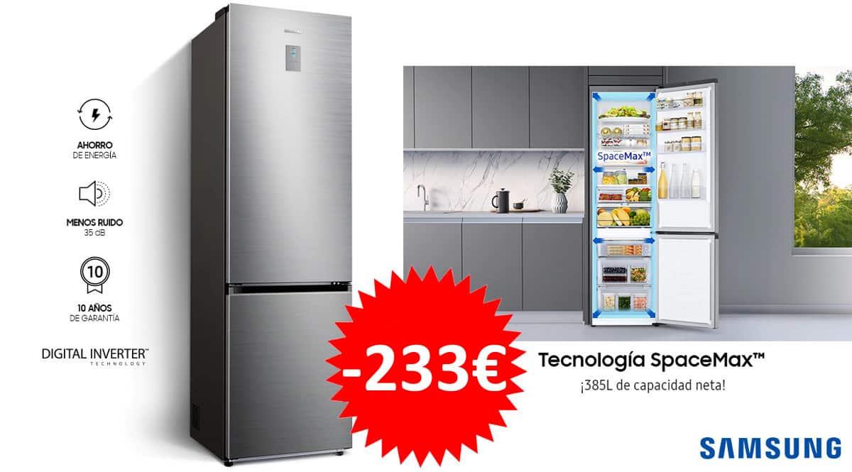 Frigorifico Samsung Combi RB38T671DSA 385L Inox barato. Frigorificos baratos, ofertas en frigoríficos, chollo