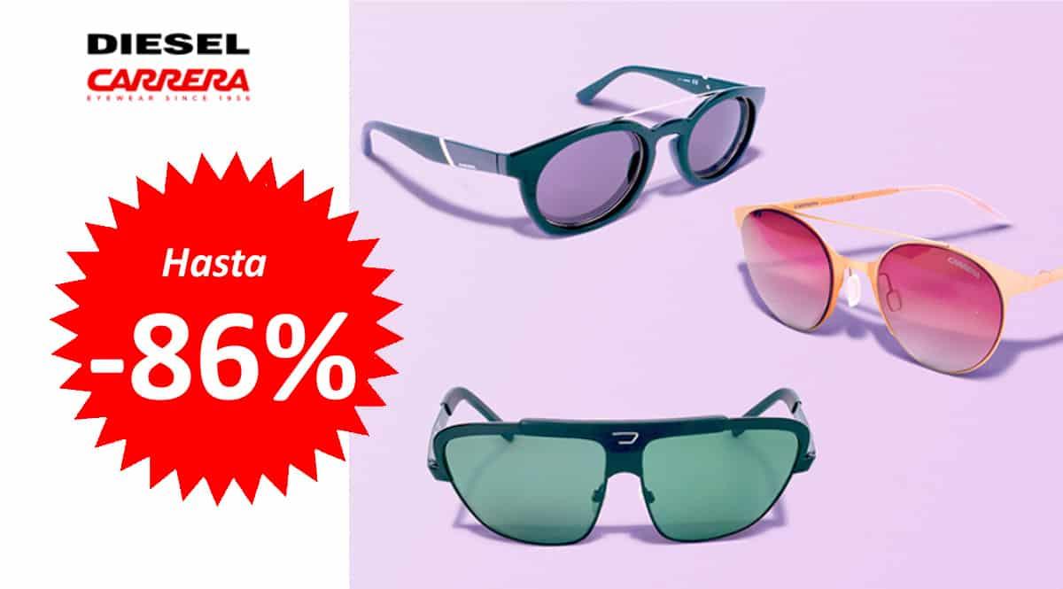 Gafas de sol Diesel y Carrera baratas, gafas de sol de marca baratas, ofertas en gafas, chollo