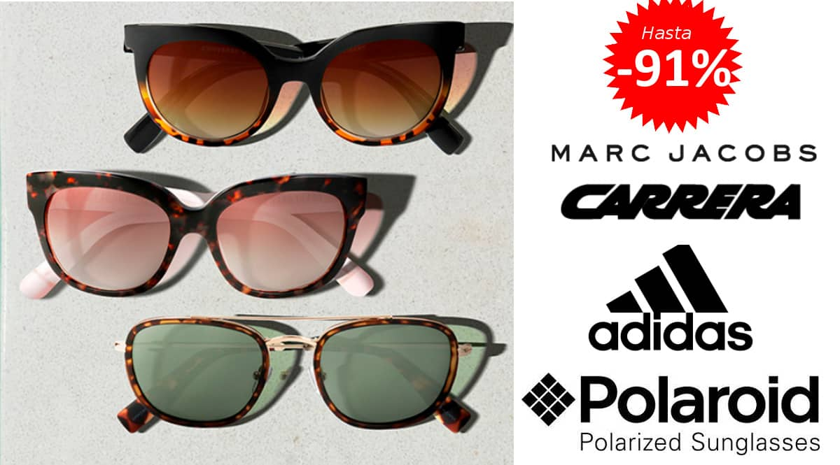 Gafas de sol Polaroir, Carrera, Guess, Marc Jacobs, Adidas y otras marcas baratas, gafas de sol de marca baratas, ofertas en gafas de sol, chollo
