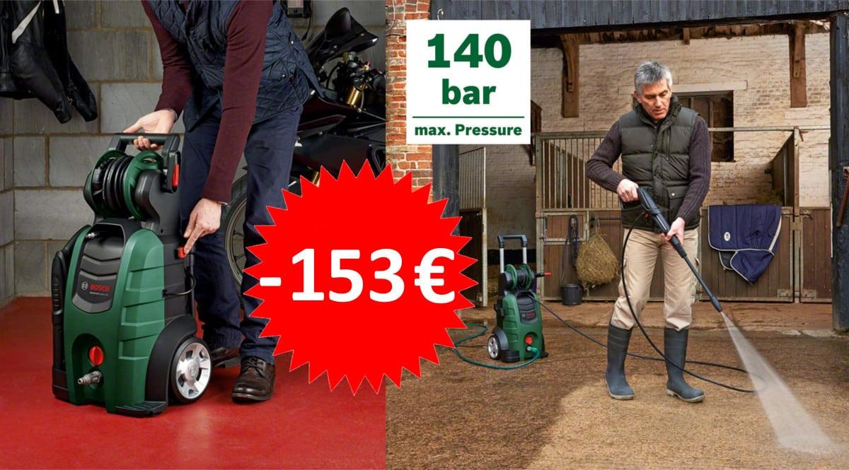 ¡¡Chollo!! Hidrolimpiadora a presión Bosch AdvancedAquatak 140 sólo 181 euros. Ahórrate 153 euros.