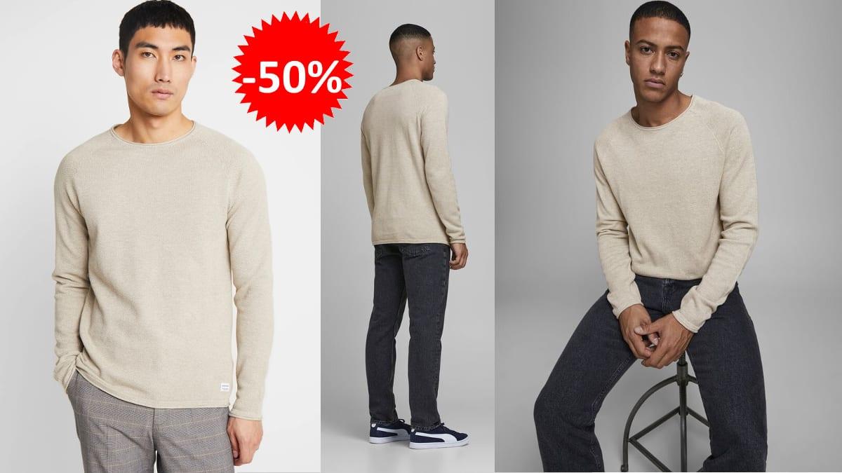 Jersey de punto Jack & Jones Jjehill -barato-ropa-de-punto-barata-ofertas-en-ropa-de-marca-chollo