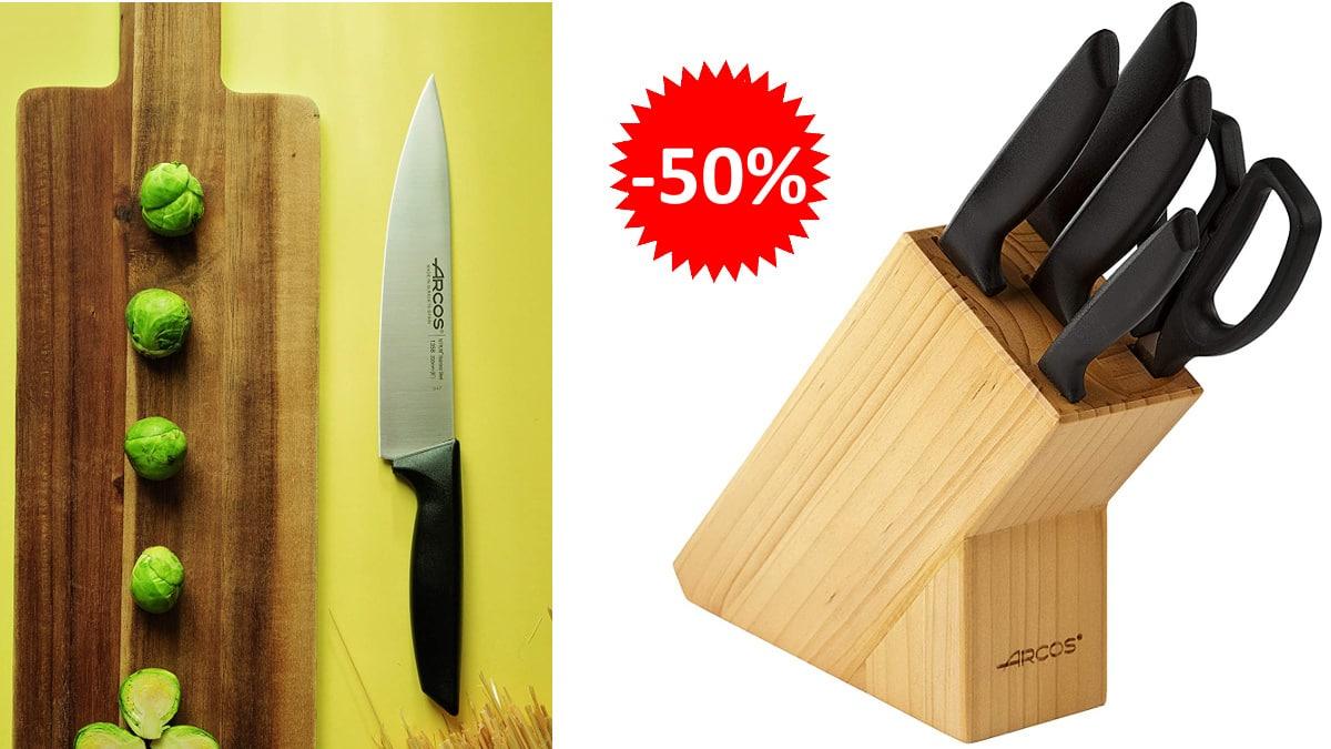 Juego de cuchillos Arcos Niza baratos. Ofertas en cuchillos, cuchillos baratos, chollol