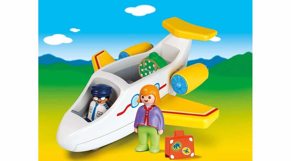 Juguete Playmobil 1.2.3 avión con pasajero barato, juguetes baratos, ofertas para niños chollo