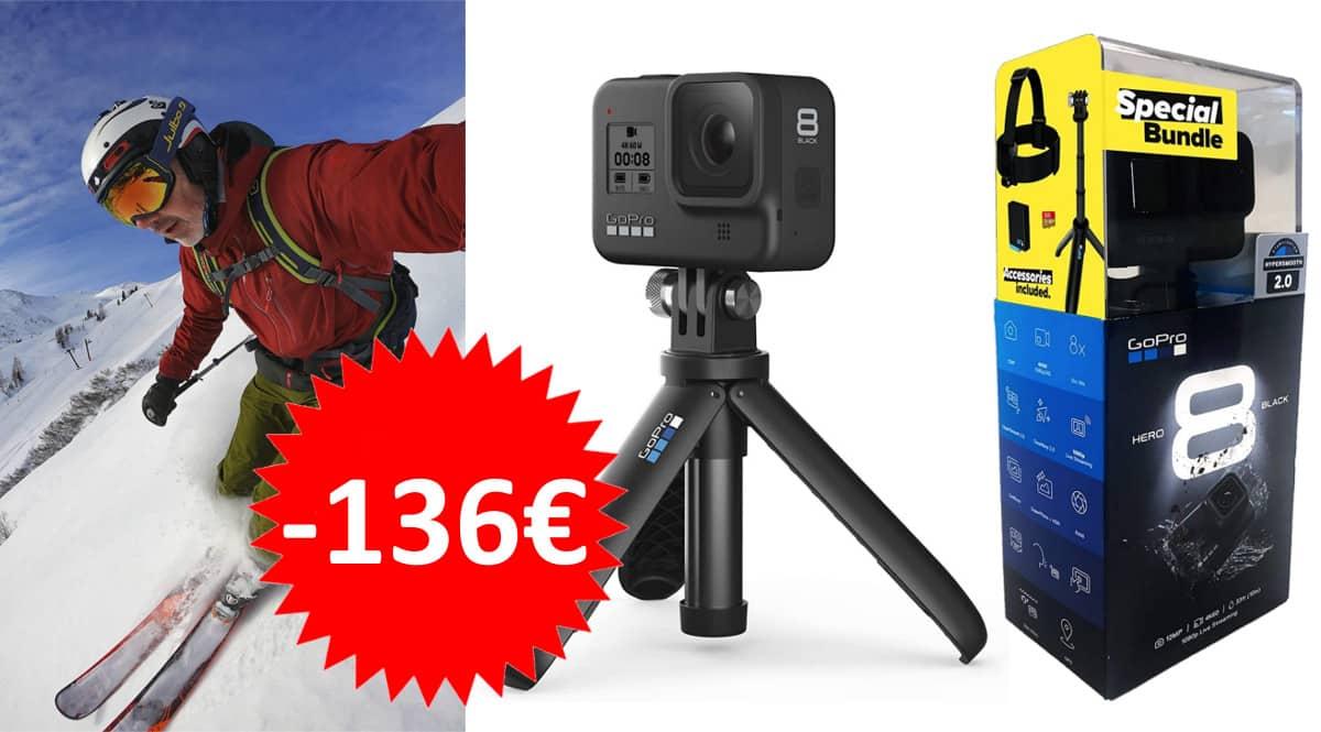 Kit cámara GoPro Hero8 barato. Ofertas en cámaras, cámaras baratas, chollo