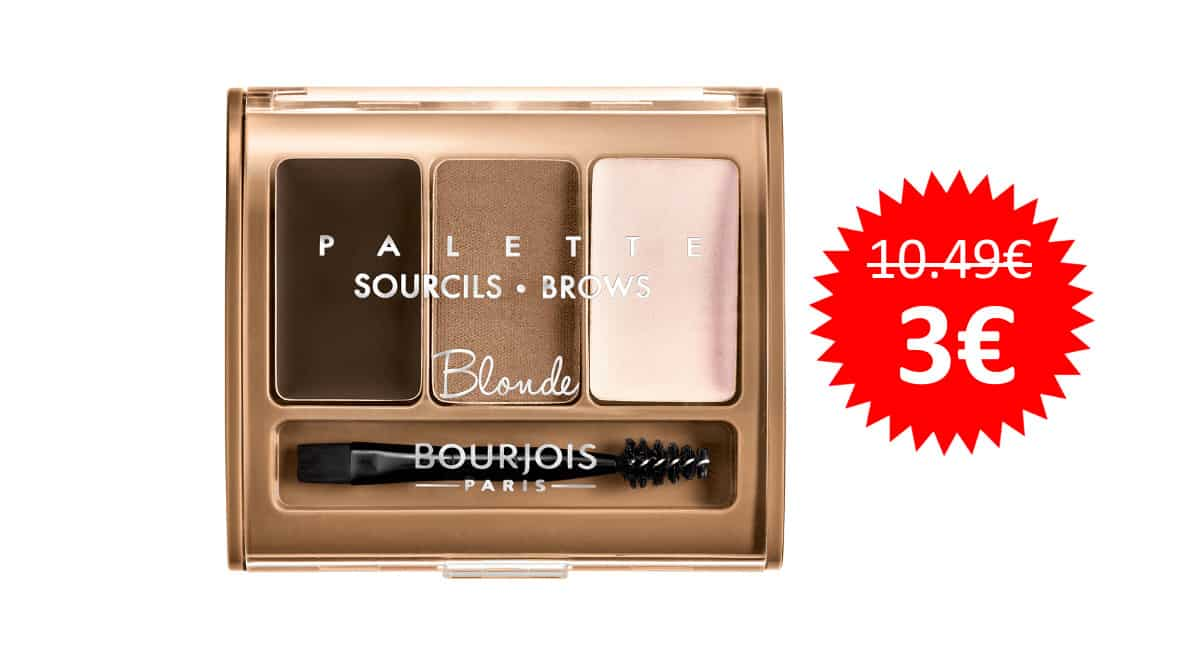 ¡Precio mínimo histórico! Kit de maquillaje para cejas Brow Palette Bourjois sólo 3 euros. 71% de descuento.