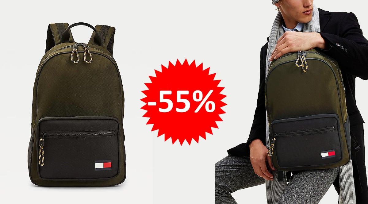 ¡Precio mínimo histórico! Mochila Tommy Hilfiger Tommy Backpack sólo 44.95 euros. 55% de descuento.