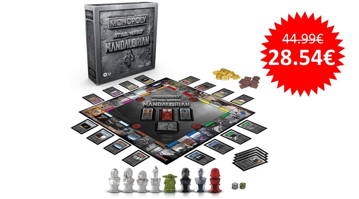 ¡¡Chollo!! Monopoly Star Wars The Mandalorian sólo 28 euros.