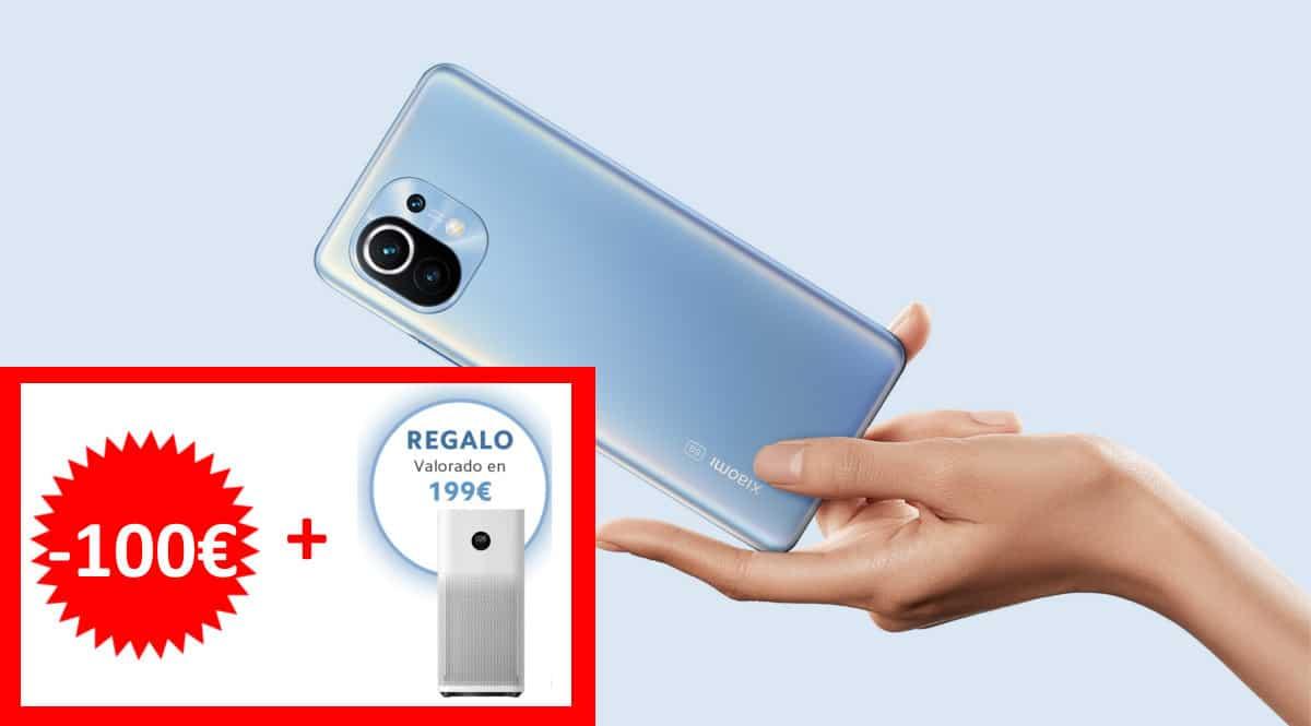 Móvil Xiaomi Mi 11 barato con purificador de aire de regalo. Ofertas en móviles, móviles baratos, chollo