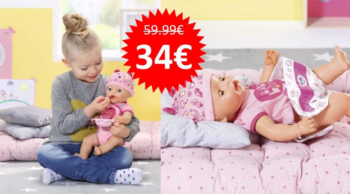 Muñeco bebé Baby Born niña barato. Ofertas en juguetes, juguetes baratos,chollo