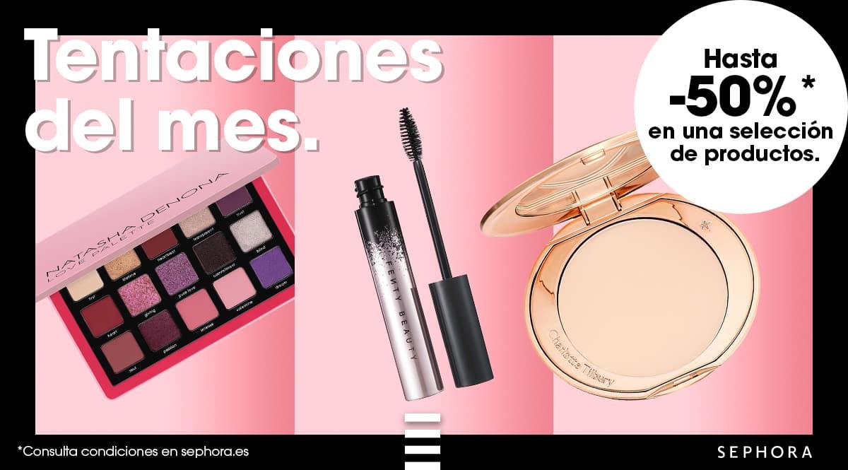 Ofertas en las tentaciones del mes en Sephora, maquillaje de marca barato, ofertas en belleza, chollo