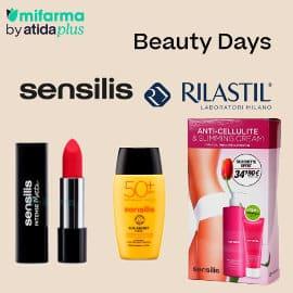 Ofertas en maquillajes, cremas y protectores solares Sensilis y Rilastil, cosméticos de marca baratos, ofertas en belleza