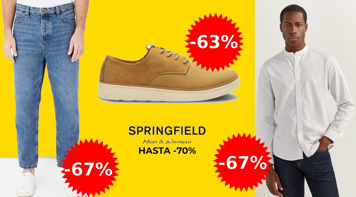 Ofertas en ropa y calzado Springfield, ropa de marca barata, ofertas en calzado, chollo