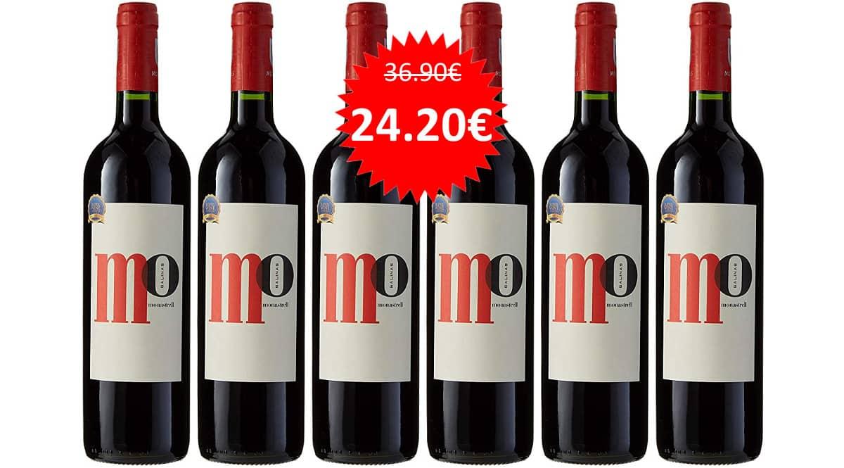 Pack de 6 botellas de vino Mo Salinas barato. Ofertas en vino, vino barato, chollo