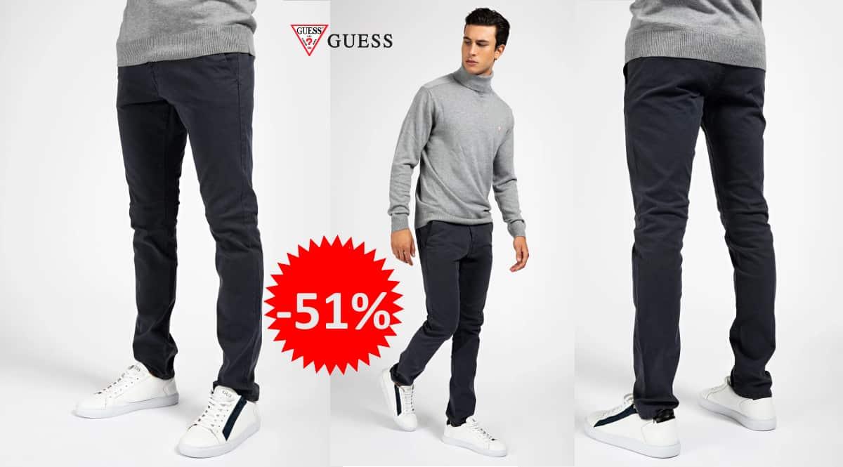Pantalón chino Guess barato, pantalones de marca baratos, ofertas en ropa, chollo