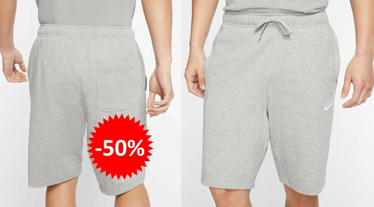 Pantalón corto Nike Sportswear Club barato, ropa de marca barata, ofertas en pantalones chollo