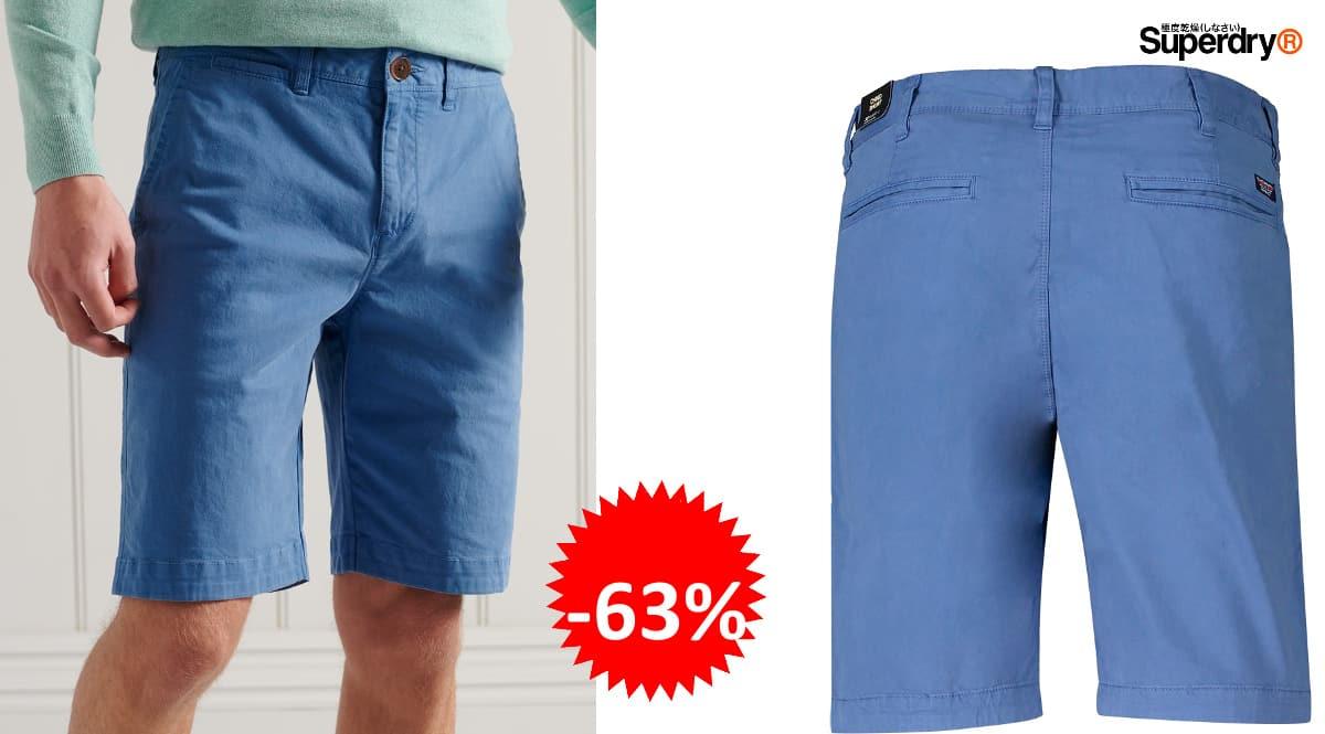Pantalón corto Superdry International Chino barato, pantalones cortos de marca baratos, ofertas en ropa, chollo